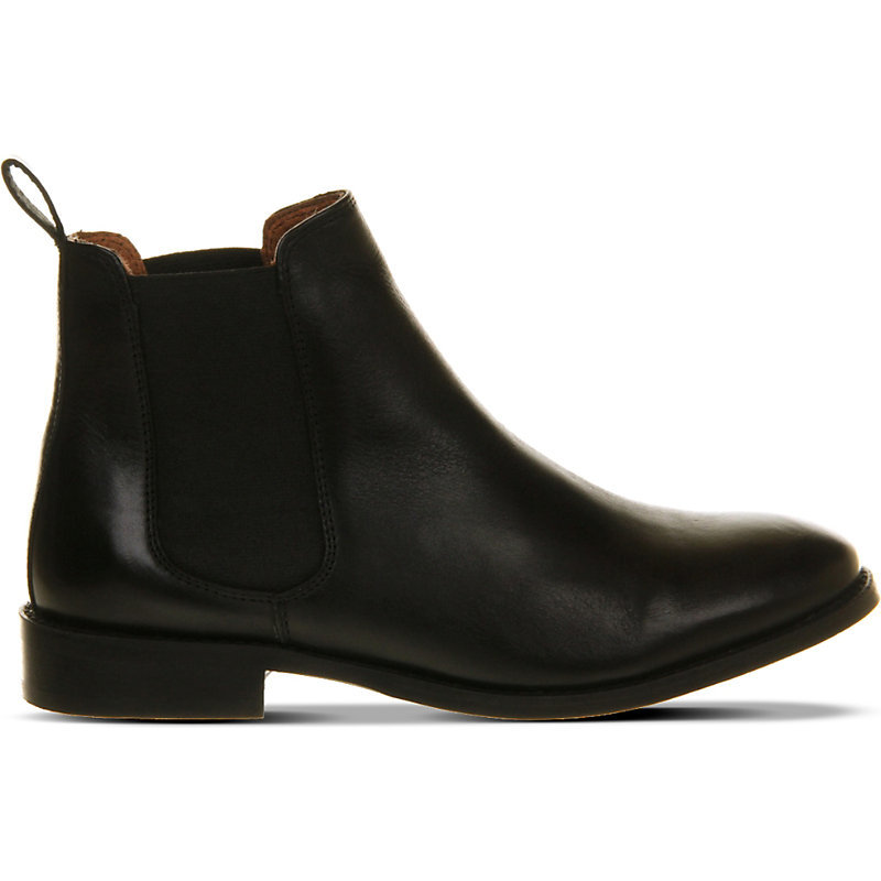 Bramble Leather Chelsea Boots, Women's, Eur 41 / 8 Uk Women, Black Leather - predominant colour: black; occasions: casual, creative work; material: leather; heel height: flat; heel: standard; toe: round toe; boot length: ankle boot; style: standard; finish: plain; pattern: plain; season: a/w 2015; wardrobe: basic