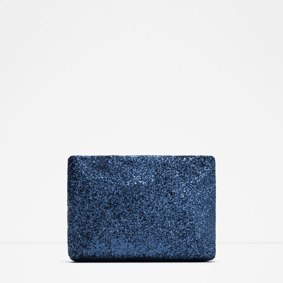 Sparkle Clutch - predominant colour: royal blue; occasions: evening, occasion; style: clutch; length: hand carry; size: standard; material: faux leather; pattern: plain; finish: metallic; season: a/w 2015; wardrobe: event