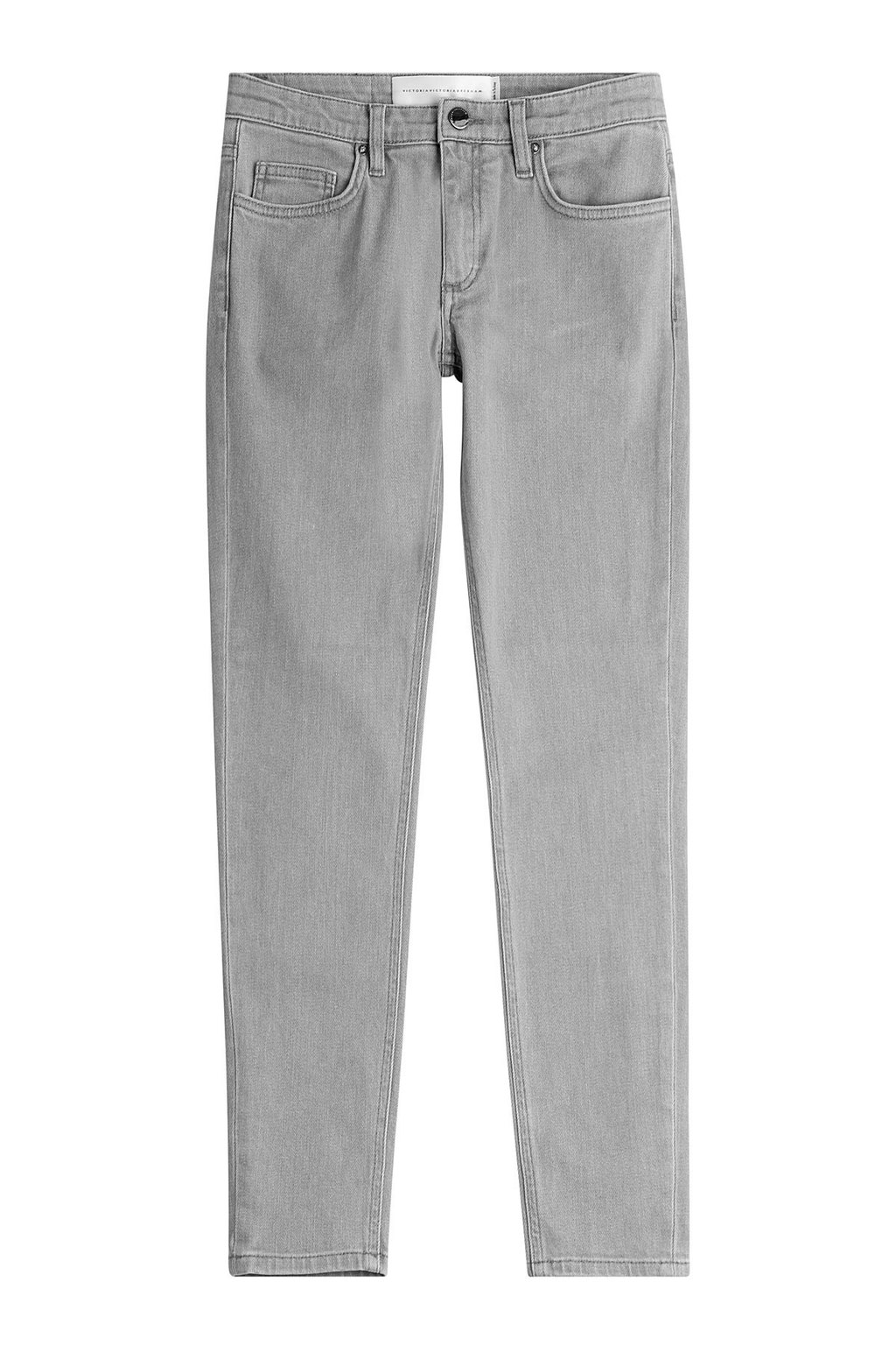 Skinny Jeans Grey - style: skinny leg; length: standard; pattern: plain; pocket detail: traditional 5 pocket; waist: mid/regular rise; predominant colour: light grey; occasions: casual; fibres: cotton - 100%; texture group: denim; pattern type: fabric; season: a/w 2015; wardrobe: highlight