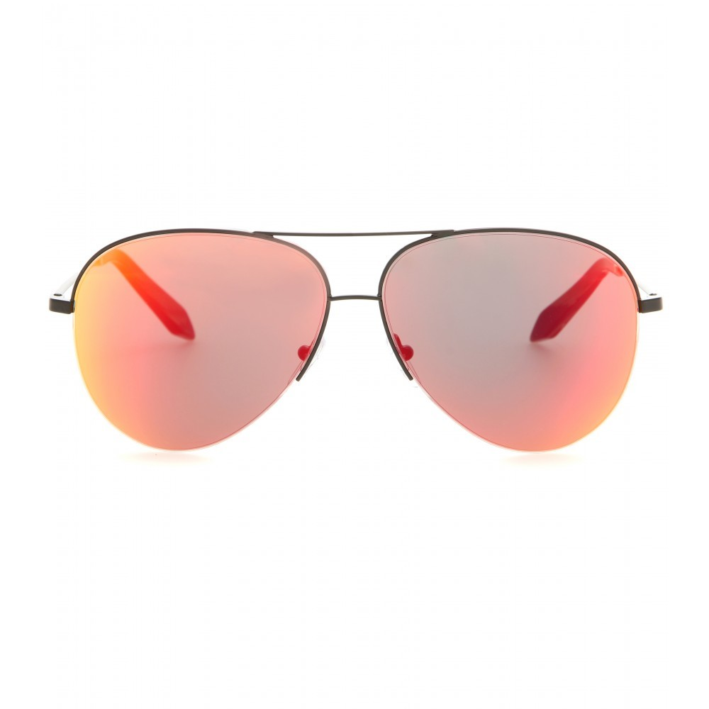 Classic Victoria Mirrored Sunglasses - predominant colour: silver; occasions: casual, holiday; style: aviator; size: standard; material: chain/metal; pattern: plain; finish: metallic; season: a/w 2015