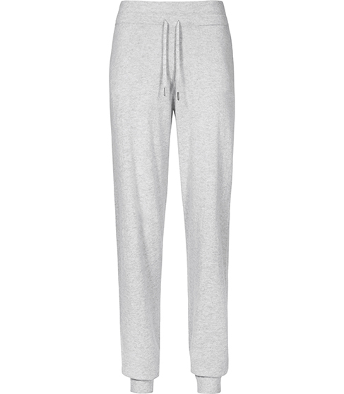 Moxie Knitted Joggers - length: standard; pattern: plain; style: tracksuit pants; waist detail: belted waist/tie at waist/drawstring; waist: mid/regular rise; predominant colour: light grey; occasions: casual, activity; texture group: knits/crochet; fit: straight leg; pattern type: knitted - fine stitch; season: a/w 2015