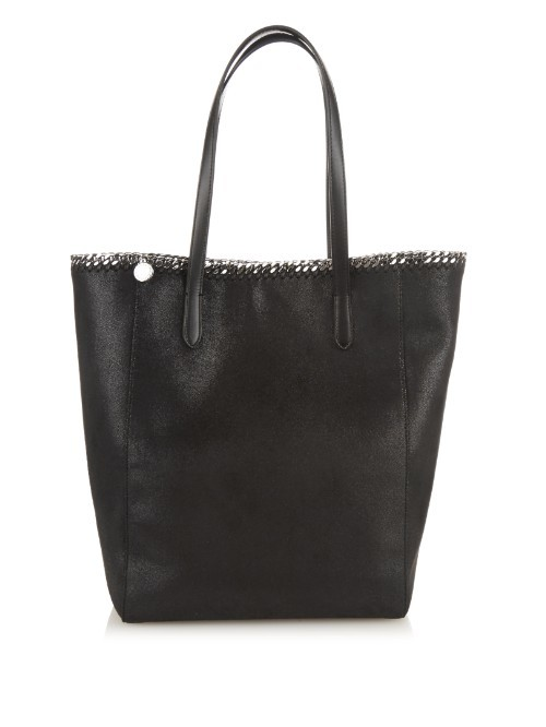 Falabella Faux Suede Tote - predominant colour: black; occasions: casual, work, creative work; style: tote; length: handle; size: oversized; pattern: plain; finish: plain; material: faux suede; season: a/w 2015; wardrobe: investment