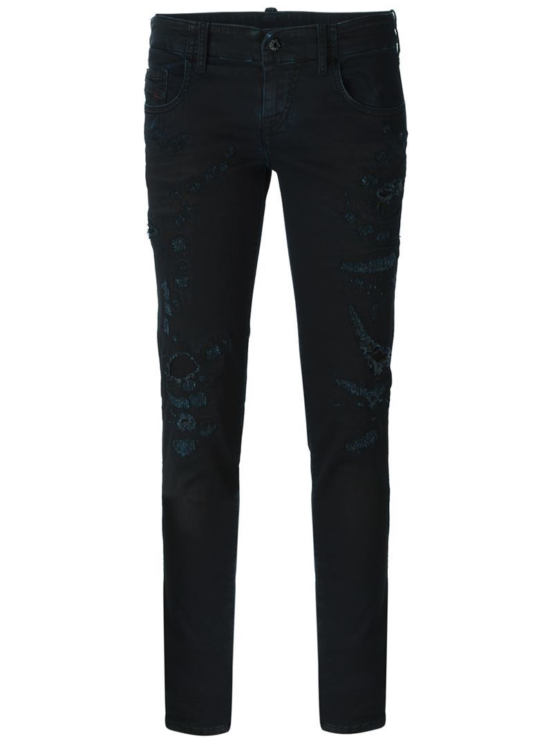 'grupee. 0849 K' Jeans, Women's, Black - style: skinny leg; length: standard; pattern: plain; pocket detail: traditional 5 pocket; waist: mid/regular rise; predominant colour: denim; occasions: casual; fibres: cotton - stretch; texture group: denim; pattern type: fabric; season: a/w 2015