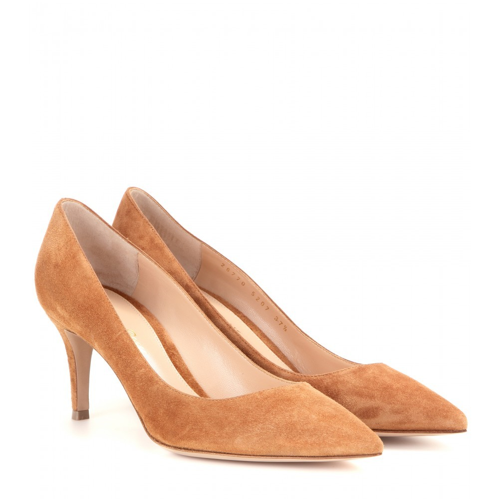 Camsell Suede Pumps - predominant colour: camel; occasions: evening, occasion, creative work; material: suede; heel height: high; heel: stiletto; toe: pointed toe; style: courts; finish: plain; pattern: plain; season: a/w 2015; wardrobe: investment