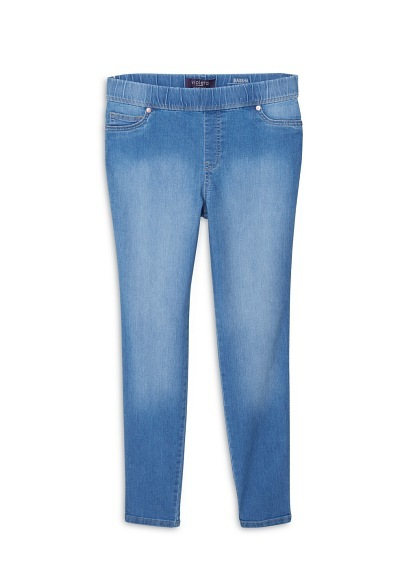Medium Wash Massha Jeggings - length: standard; pattern: plain; style: jeggings; pocket detail: traditional 5 pocket; waist: mid/regular rise; predominant colour: denim; occasions: casual; fibres: cotton - stretch; texture group: denim; pattern type: fabric; season: a/w 2015