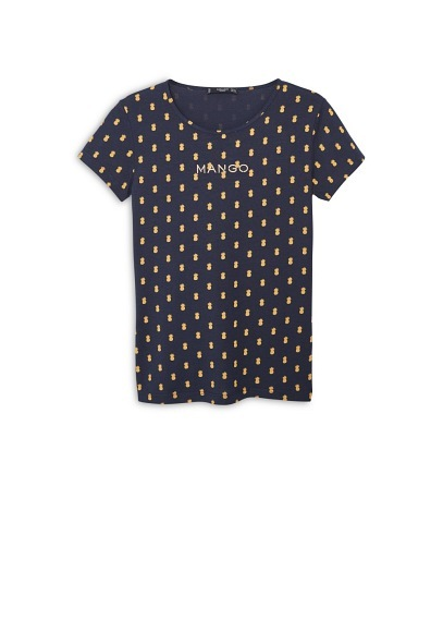 Logo Cotton T Shirt - neckline: round neck; pattern: plain; style: t-shirt; predominant colour: navy; occasions: casual; length: standard; fibres: cotton - 100%; fit: body skimming; sleeve length: short sleeve; sleeve style: standard; pattern type: fabric; texture group: jersey - stretchy/drapey; pattern size: big & busy (top); season: a/w 2015