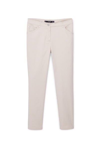 Straight Cotton Trousers - length: standard; pattern: plain; waist: mid/regular rise; predominant colour: ivory/cream; occasions: casual, creative work; fibres: cotton - 100%; waist detail: narrow waistband; texture group: cotton feel fabrics; fit: straight leg; pattern type: fabric; style: standard; season: a/w 2015