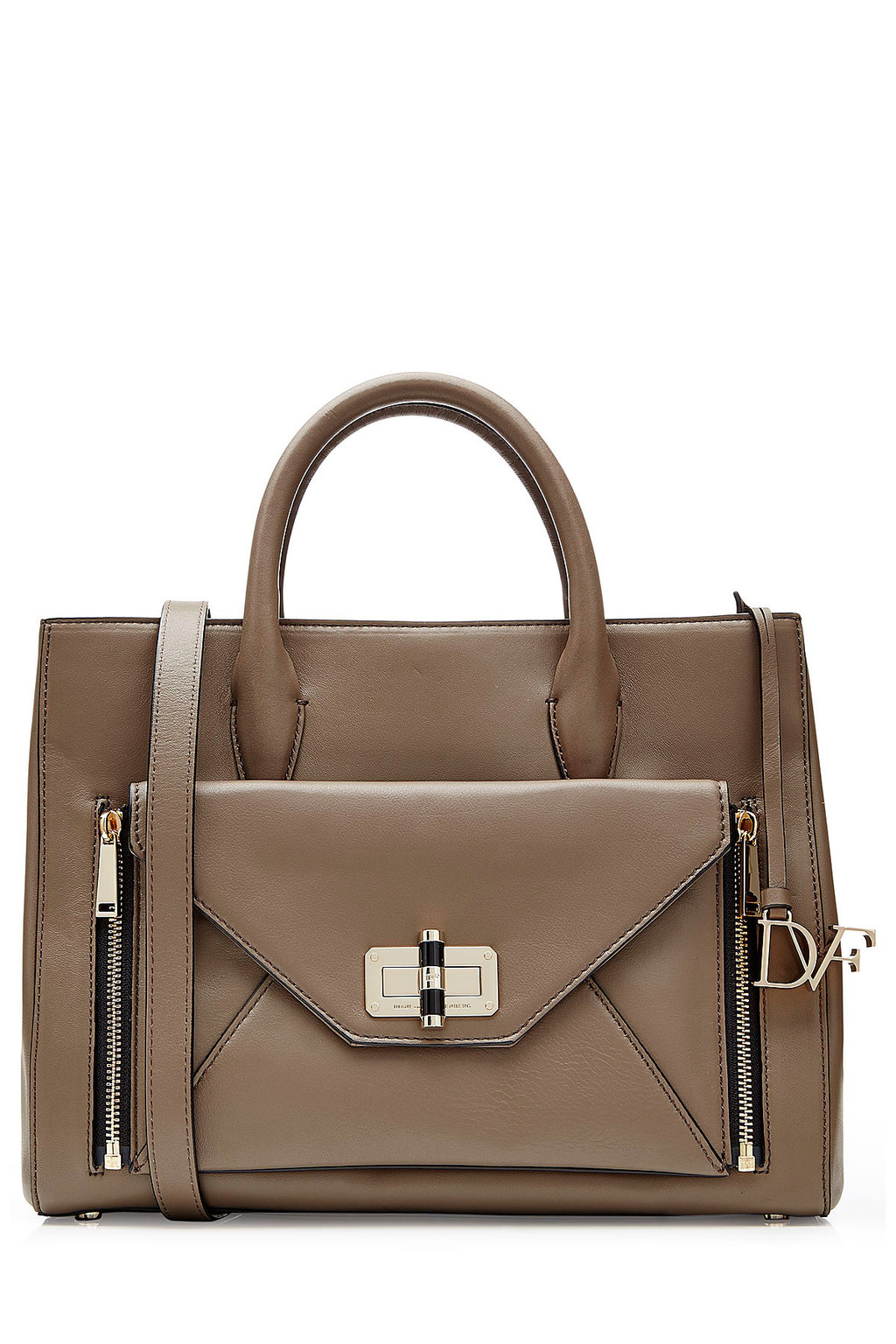 Leather Tote Brown - predominant colour: taupe; occasions: casual, work, creative work; type of pattern: standard; style: tote; length: handle; size: standard; material: leather; pattern: plain; finish: plain; season: a/w 2015