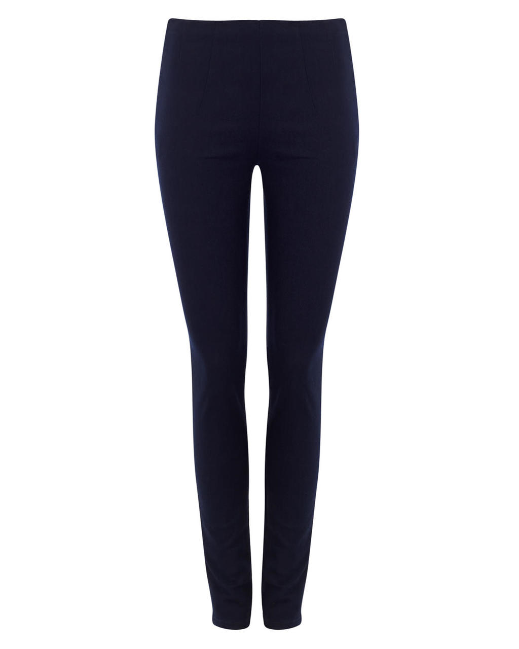 Lois Trouser - pattern: plain; waist: mid/regular rise; predominant colour: navy; occasions: casual, creative work; length: ankle length; fibres: viscose/rayon - stretch; fit: skinny/tight leg; pattern type: fabric; texture group: other - clingy; style: standard; season: a/w 2015; wardrobe: basic