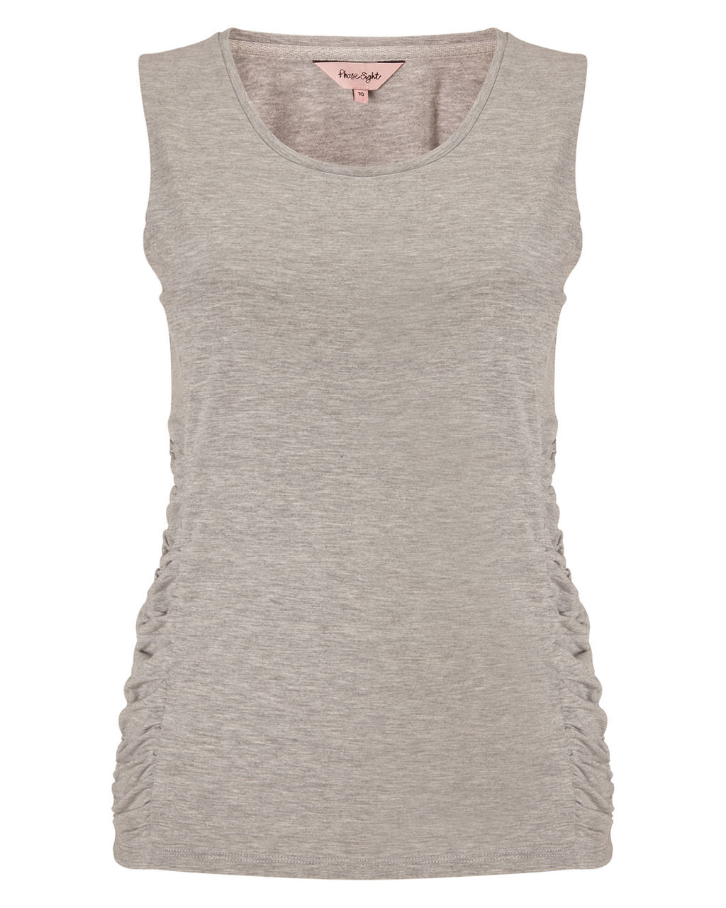 Gigi Gathered Vest - neckline: round neck; sleeve style: standard vest straps/shoulder straps; pattern: plain; length: below the bottom; style: vest top; predominant colour: stone; occasions: casual; fibres: cotton - 100%; fit: body skimming; sleeve length: sleeveless; pattern type: fabric; texture group: jersey - stretchy/drapey; season: a/w 2015