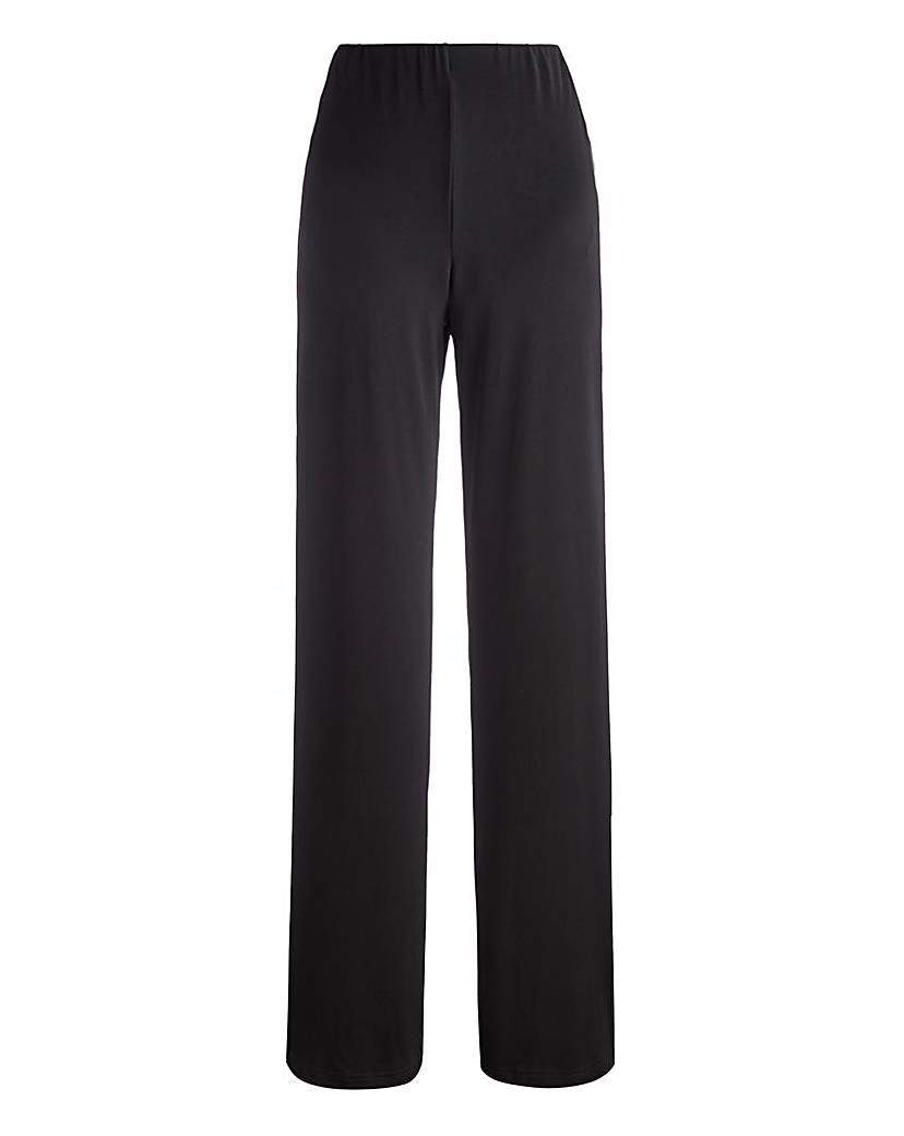 Joanna Hope Jersey Palazzo Trousers 31in - length: standard; pattern: plain; style: palazzo; waist: high rise; predominant colour: black; occasions: evening, creative work; fit: wide leg; pattern type: fabric; texture group: jersey - stretchy/drapey; season: a/w 2015