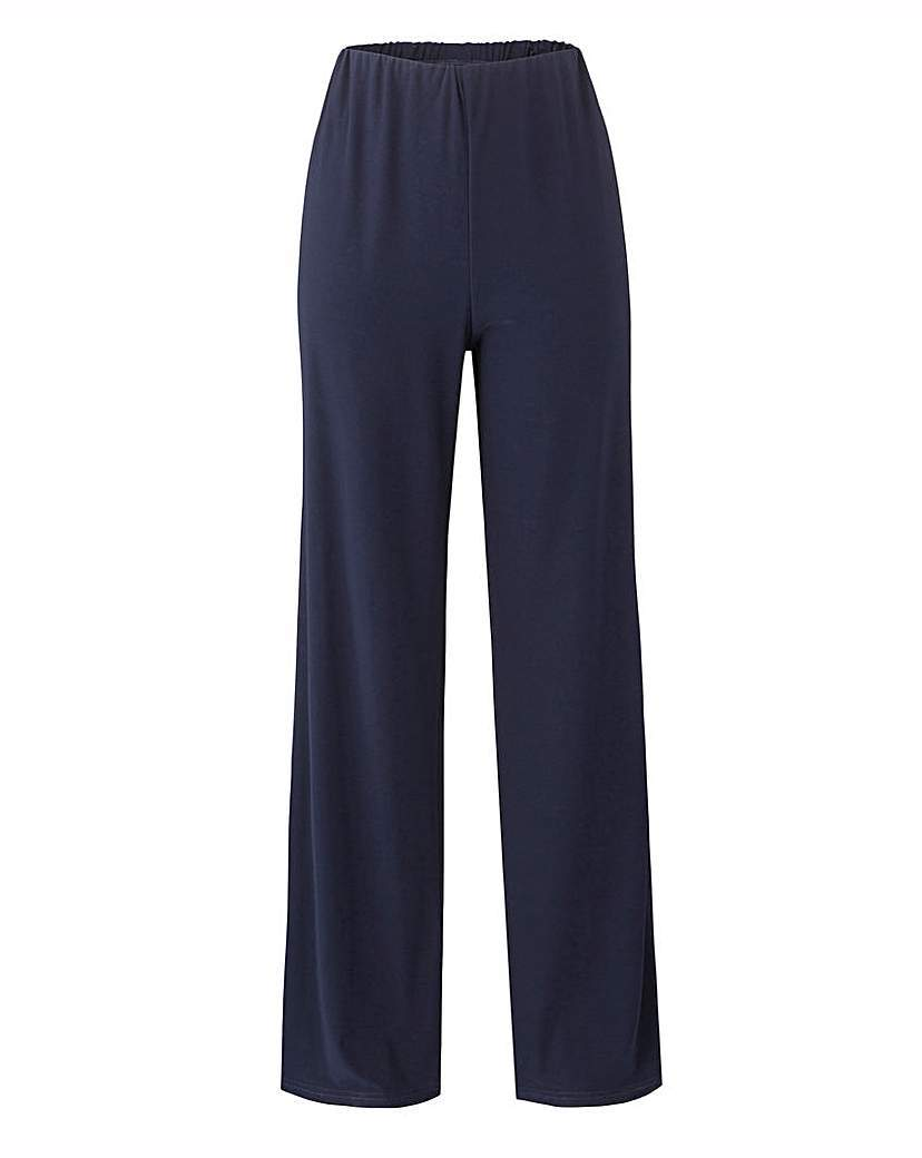 Ity Trousers Length 29in/74cm - length: standard; pattern: plain; waist: mid/regular rise; predominant colour: navy; occasions: evening; fibres: polyester/polyamide - 100%; fit: wide leg; pattern type: fabric; texture group: other - light to midweight; style: standard; season: a/w 2015; wardrobe: event