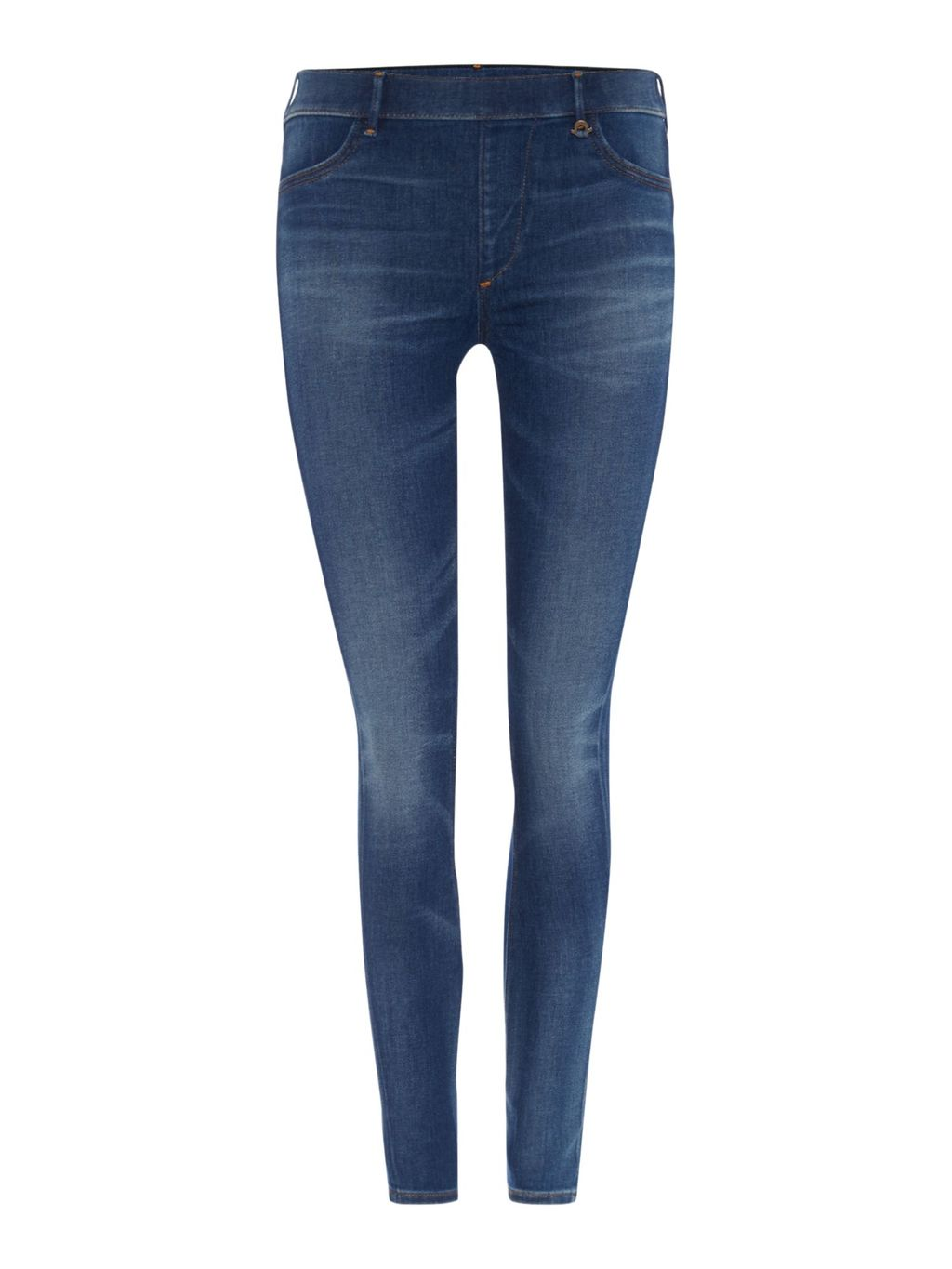 The Runway Legging Jean In Capri Blue, Denim Mid Wash - length: standard; pattern: plain; style: jeggings; waist: mid/regular rise; predominant colour: denim; occasions: casual, creative work; fibres: cotton - stretch; texture group: denim; pattern type: fabric; season: a/w 2015; wardrobe: basic