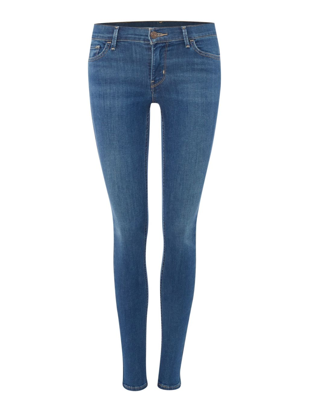 710 Innovation Super Skinny Jean In Indigo Mist, Denim Mid Wash - style: skinny leg; length: standard; pattern: plain; pocket detail: traditional 5 pocket; waist: mid/regular rise; predominant colour: denim; occasions: casual; fibres: cotton - stretch; texture group: denim; pattern type: fabric; season: a/w 2015; wardrobe: basic