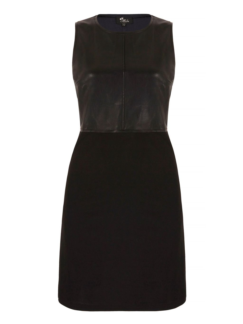 Leather Look Fitted Dress, Black - style: shift; fit: tailored/fitted; pattern: plain; sleeve style: sleeveless; predominant colour: black; occasions: evening; length: just above the knee; fibres: polyester/polyamide - 100%; neckline: crew; sleeve length: sleeveless; pattern type: fabric; texture group: woven light midweight; season: a/w 2015; wardrobe: event