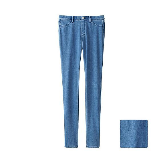 Women Denim Leggings Trousers Blue - length: standard; pattern: plain; style: leggings; waist: mid/regular rise; predominant colour: denim; occasions: casual; fibres: cotton - stretch; texture group: denim; fit: skinny/tight leg; pattern type: fabric; season: a/w 2015