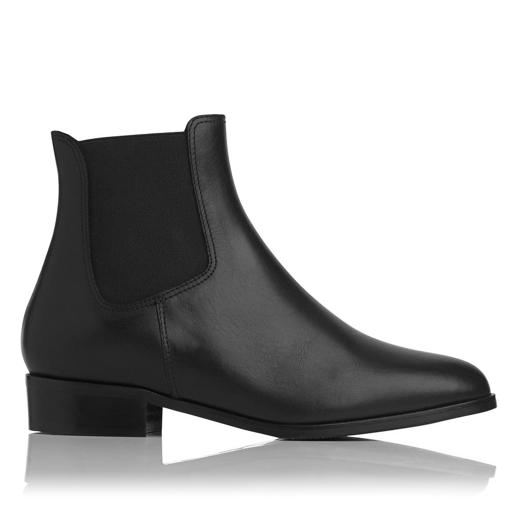 Brody Shearling Boots Black - predominant colour: black; occasions: casual, creative work; material: leather; heel height: flat; heel: standard; toe: round toe; boot length: ankle boot; style: standard; finish: plain; pattern: plain; season: a/w 2015; wardrobe: basic