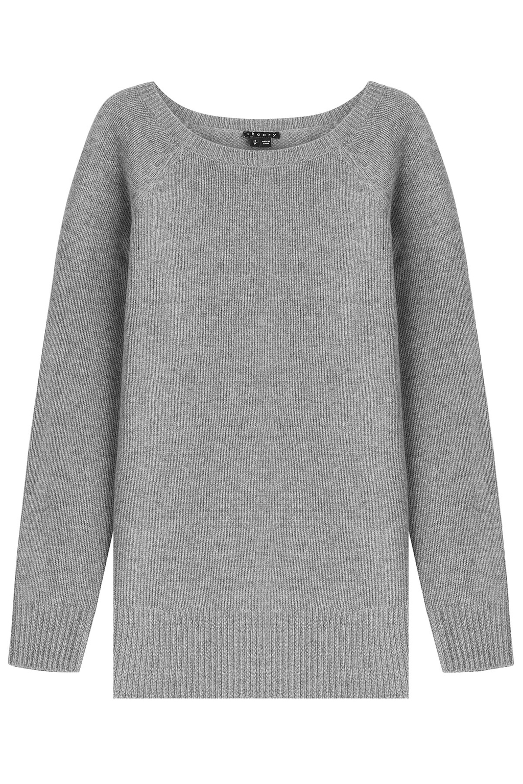 Cashmere Pullover Grey - neckline: round neck; pattern: plain; style: standard; predominant colour: mid grey; occasions: casual; length: standard; fit: loose; fibres: cashmere - 100%; sleeve length: long sleeve; sleeve style: standard; texture group: knits/crochet; pattern type: fabric; season: a/w 2015