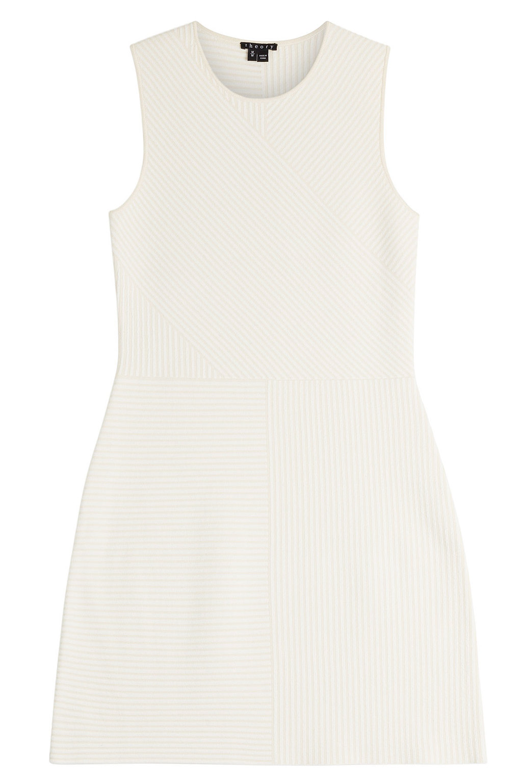 Jersey Dress White - style: shift; fit: tailored/fitted; pattern: plain; sleeve style: sleeveless; predominant colour: ivory/cream; occasions: evening; length: just above the knee; neckline: crew; sleeve length: sleeveless; pattern type: fabric; texture group: brocade/jacquard; fibres: viscose/rayon - mix; season: a/w 2015