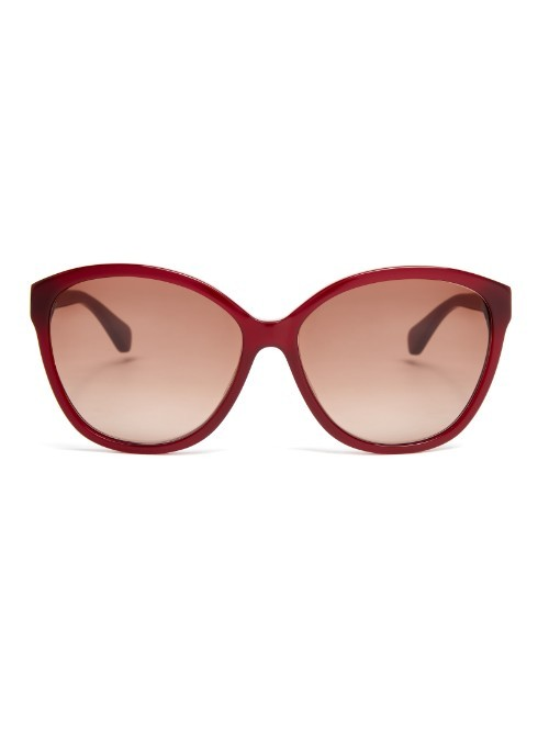 Harper Sunglasses - predominant colour: true red; occasions: casual, holiday; style: cateye; size: large; material: plastic/rubber; pattern: plain; finish: plain; season: a/w 2015; wardrobe: highlight