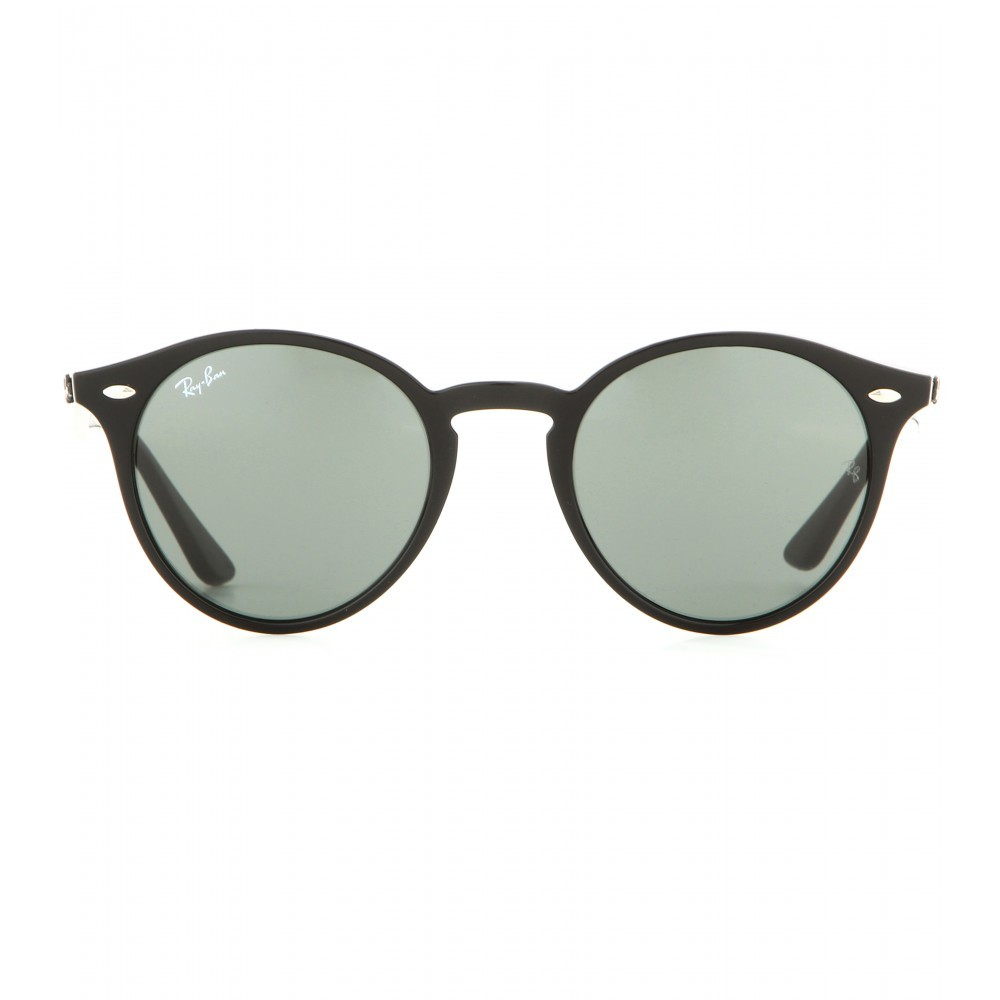Rb2180 Round Sunglasses - predominant colour: black; occasions: casual, holiday; style: round; size: large; material: plastic/rubber; pattern: plain; finish: plain; season: a/w 2015; wardrobe: basic