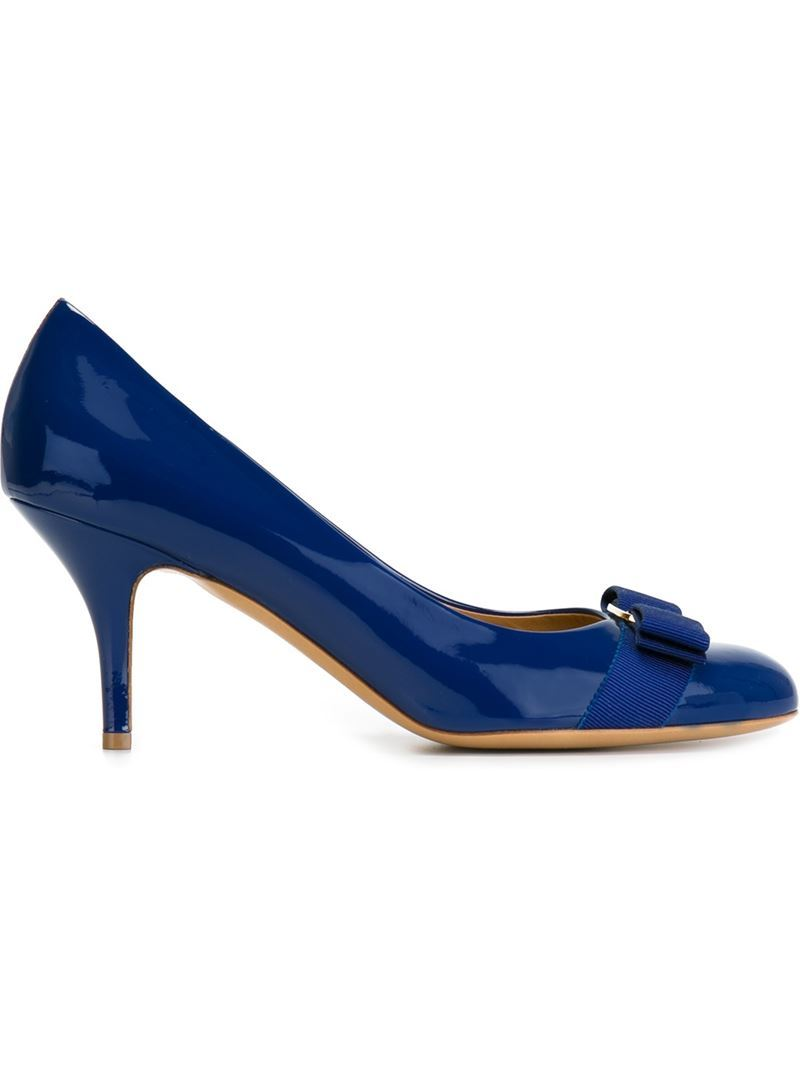 'carla' Pumps, Women's, Size: 4.5, Blue - predominant colour: royal blue; occasions: evening, occasion; material: leather; heel height: high; heel: stiletto; toe: round toe; style: courts; finish: plain; pattern: plain; embellishment: bow; season: a/w 2015; wardrobe: event