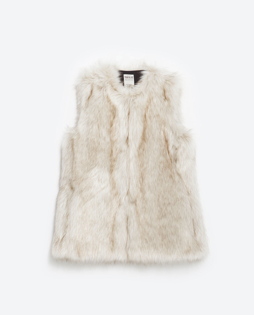 Short Faux Fur Waistcoat - neckline: round neck; pattern: plain; sleeve style: sleeveless; style: gilet; predominant colour: ivory/cream; occasions: casual, evening, creative work; length: standard; fibres: acrylic - mix; fit: standard fit; sleeve length: sleeveless; texture group: fur; pattern type: fabric; embellishment: fur; season: a/w 2015; wardrobe: highlight