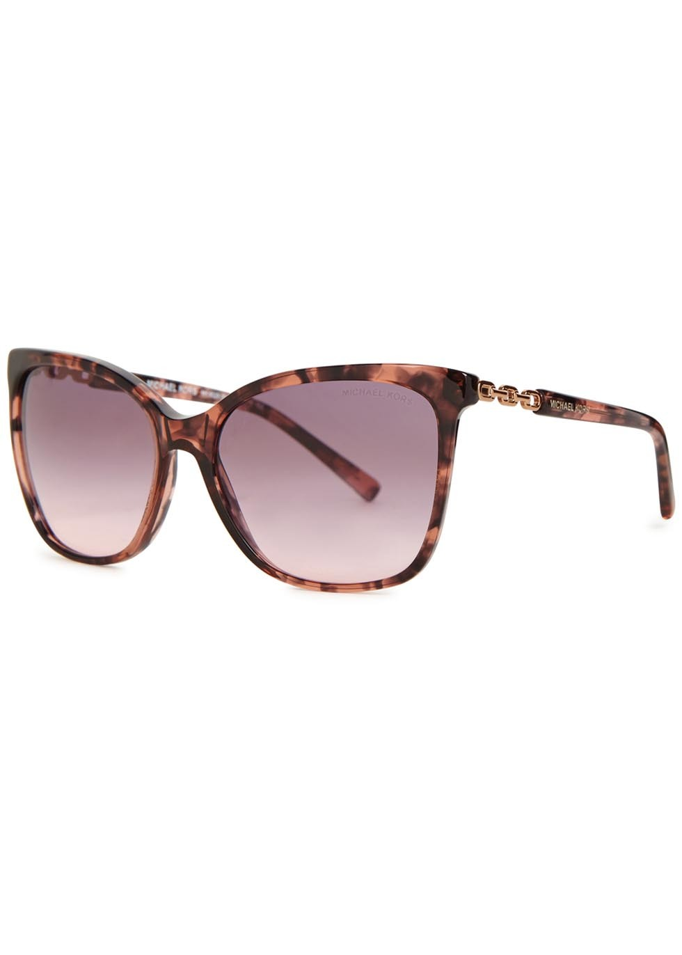 Sadie Ii Tortoiseshell Square Frame Sunglasses - predominant colour: chocolate brown; secondary colour: tan; occasions: casual, holiday; style: square; size: large; material: plastic/rubber; pattern: tortoiseshell; finish: plain; season: a/w 2015; wardrobe: basic
