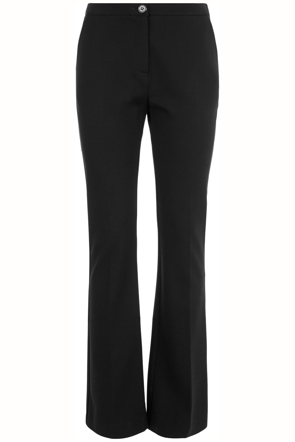 Shelby Trouser, Black - length: standard; pattern: plain; waist: mid/regular rise; predominant colour: black; occasions: work, creative work; fibres: polyester/polyamide - 100%; waist detail: feature waist detail; texture group: crepes; fit: bootcut; pattern type: fabric; style: standard; season: a/w 2015; wardrobe: basic