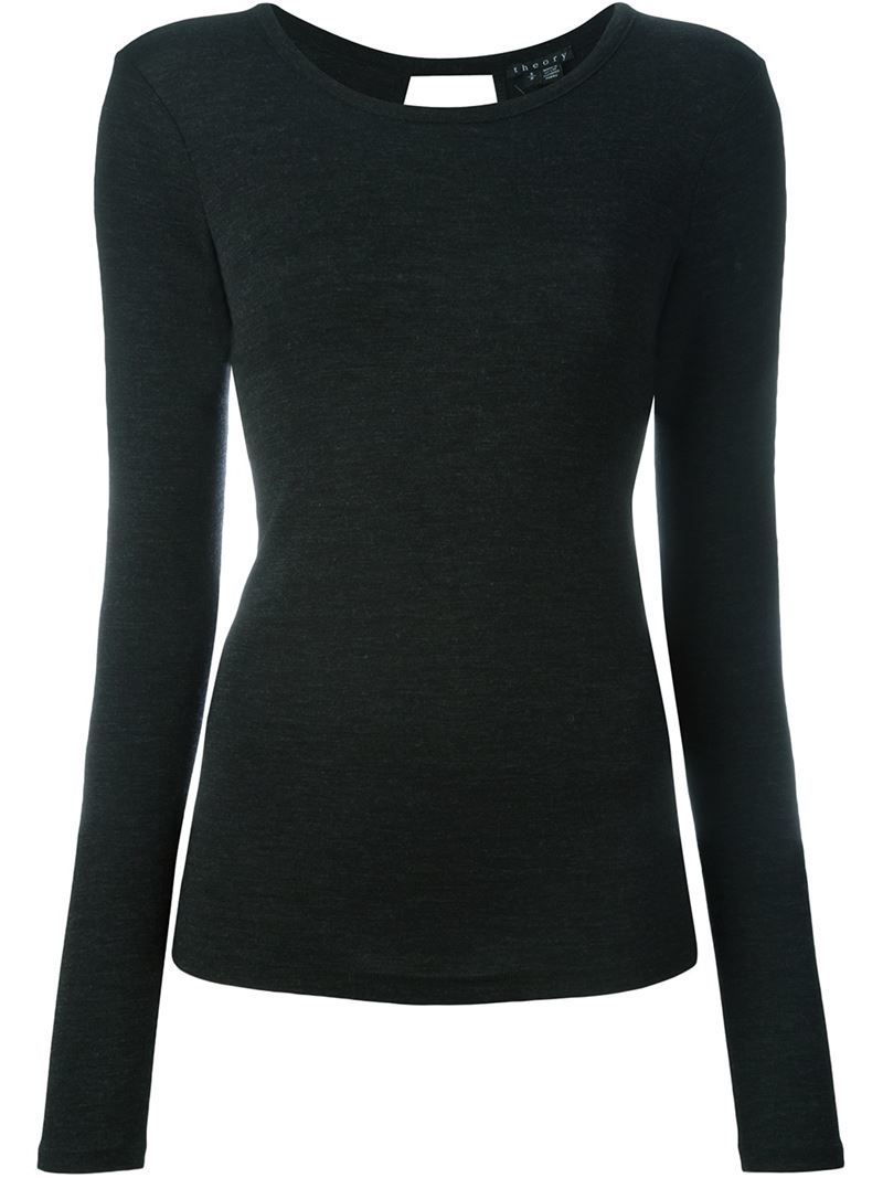 Fine Knit Sweater - pattern: plain; style: standard; predominant colour: black; occasions: casual, creative work; length: standard; fibres: wool - mix; fit: slim fit; neckline: crew; sleeve length: long sleeve; sleeve style: standard; texture group: knits/crochet; pattern type: knitted - fine stitch; season: a/w 2015