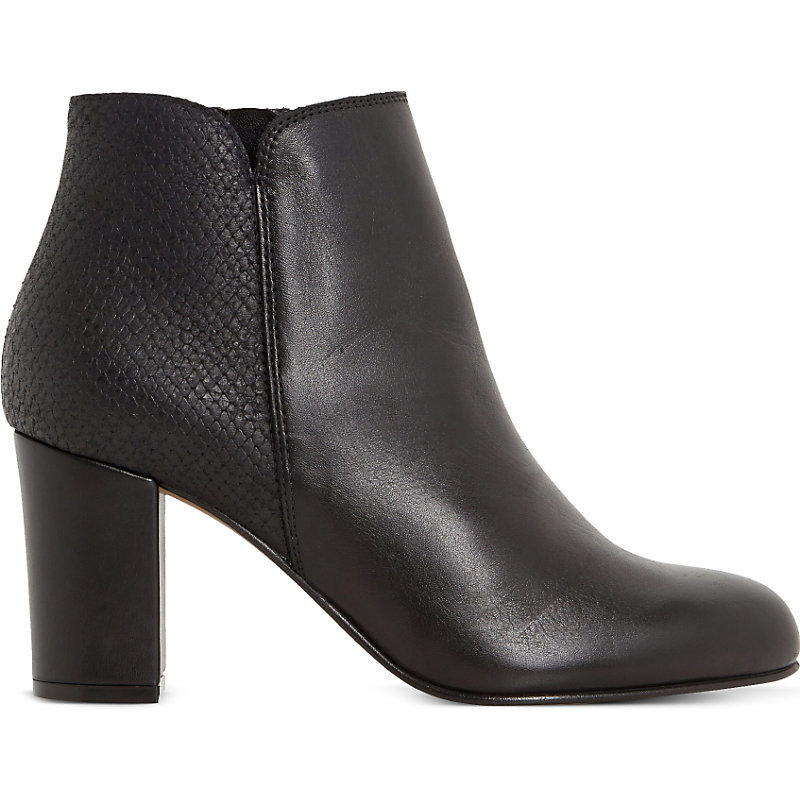 Palleton Leather Ankle Boot, Women's, Eur 40 / 7 Uk Women, Black Leather - predominant colour: black; occasions: casual, creative work; material: leather; heel height: high; heel: block; toe: round toe; boot length: ankle boot; style: standard; finish: plain; pattern: plain; season: a/w 2015; wardrobe: highlight