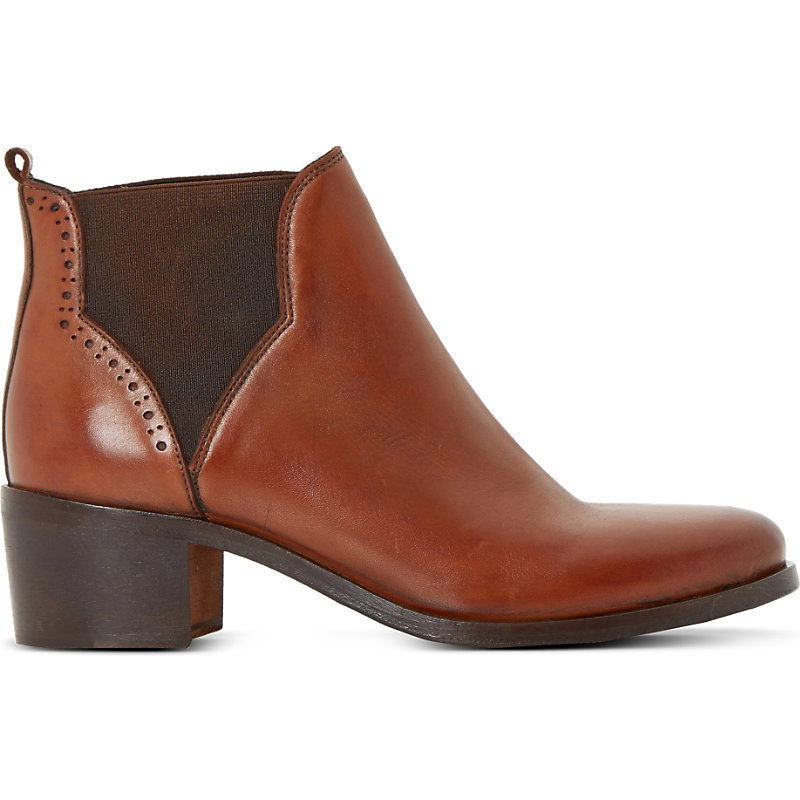 Parnell Leather Ankle Boots, Women's, Eur 39 / 6 Uk Women, Tan/Brown - predominant colour: tan; occasions: casual, creative work; material: leather; heel height: mid; heel: block; toe: round toe; boot length: ankle boot; style: standard; finish: plain; pattern: plain; season: a/w 2015; wardrobe: highlight