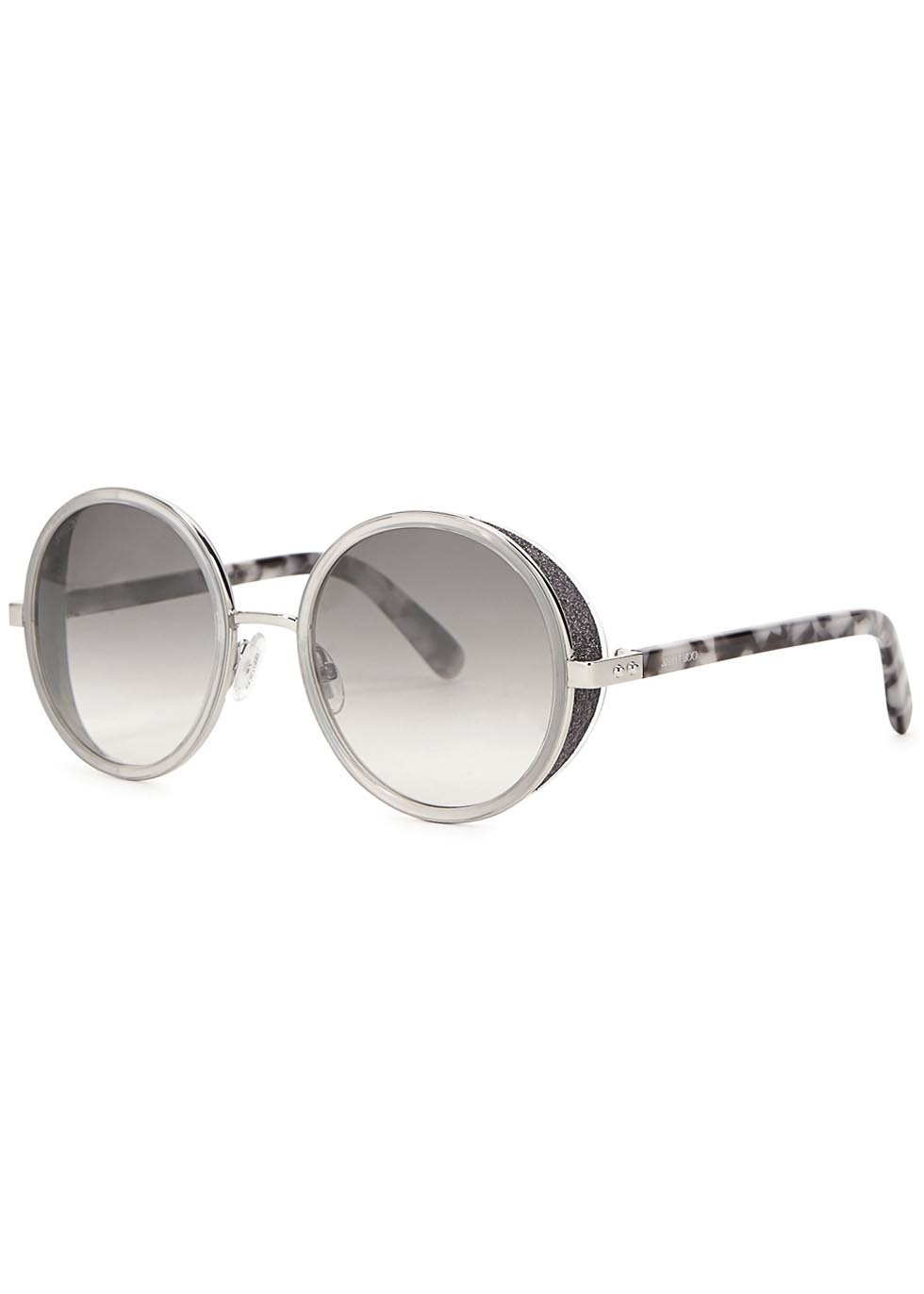 Andie Grey Mirrored Sunglasses - secondary colour: white; predominant colour: silver; style: round; size: standard; material: plastic/rubber; occasions: holiday; finish: plain; pattern: patterned/print; season: a/w 2015; wardrobe: highlight