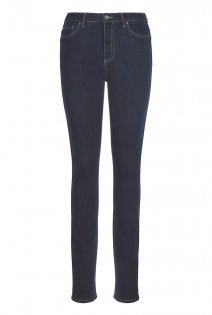 Tall Shaper Straight Cut Jeans At - style: skinny leg; length: standard; pattern: plain; waist: high rise; pocket detail: traditional 5 pocket; predominant colour: navy; occasions: casual; fibres: cotton - stretch; jeans detail: dark wash; texture group: denim; pattern type: fabric; season: a/w 2015