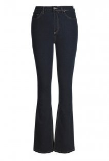 Tall Shaper Bootcut Jeans At - style: bootcut; length: standard; pattern: plain; waist: high rise; pocket detail: traditional 5 pocket; predominant colour: navy; occasions: casual; fibres: cotton - stretch; jeans detail: dark wash; texture group: denim; pattern type: fabric; season: a/w 2015