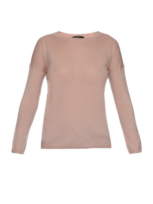 Buono Sweater - pattern: plain; style: standard; predominant colour: nude; occasions: casual; length: standard; fibres: wool - mix; fit: slim fit; neckline: crew; sleeve length: long sleeve; sleeve style: standard; texture group: knits/crochet; pattern type: fabric; season: a/w 2015; trends: pink aw 15; wardrobe: basic