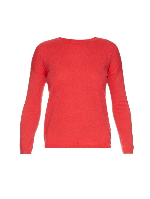 Buono Sweater - pattern: plain; style: standard; predominant colour: coral; occasions: casual, creative work; length: standard; fibres: wool - mix; fit: slim fit; neckline: crew; sleeve length: long sleeve; sleeve style: standard; texture group: knits/crochet; pattern type: knitted - fine stitch; season: a/w 2015