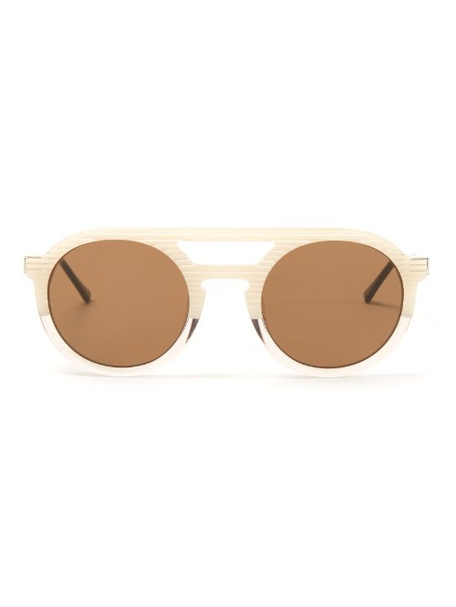 Gravity Round Frame Sunglasses - predominant colour: gold; occasions: casual, holiday; style: round; size: standard; material: plastic/rubber; pattern: plain; finish: plain; season: a/w 2015; wardrobe: basic