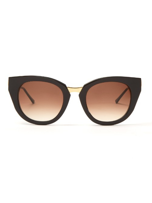 Snobby Cat Eye Frame Sunglasses - predominant colour: black; occasions: casual, holiday; style: cateye; size: standard; material: plastic/rubber; pattern: plain; finish: plain; season: a/w 2015; wardrobe: basic