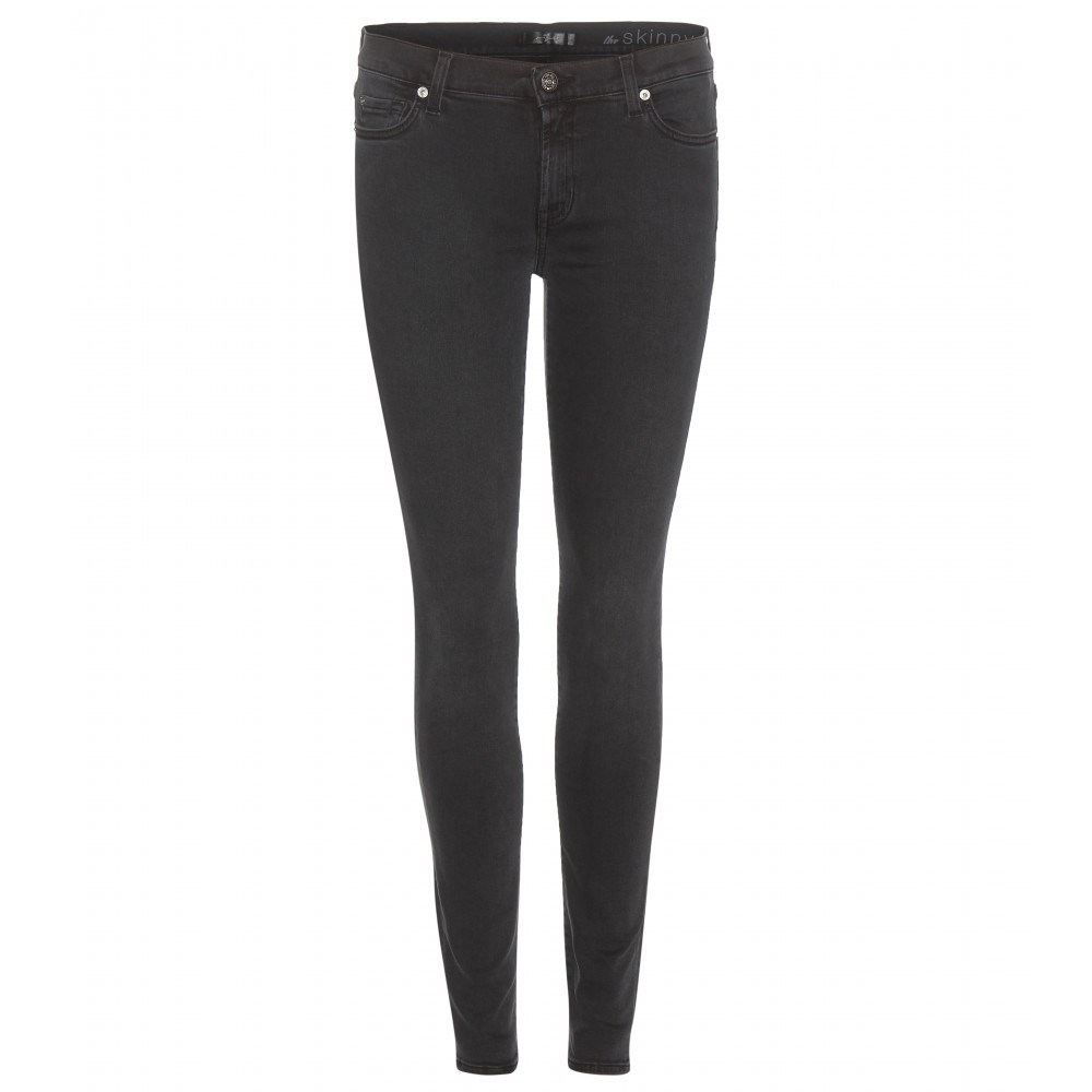Skinny Jeans - style: skinny leg; length: standard; pattern: plain; pocket detail: traditional 5 pocket; waist: mid/regular rise; predominant colour: black; occasions: casual; fibres: cotton - stretch; texture group: denim; pattern type: fabric; season: a/w 2015