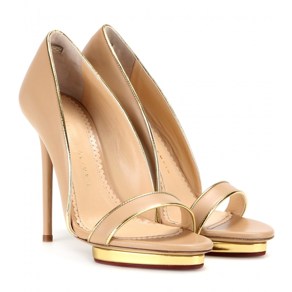 Christine 125 Leather Pumps - predominant colour: nude; occasions: evening, occasion; material: leather; heel: stiletto; toe: open toe/peeptoe; style: courts; finish: plain; pattern: plain; heel height: very high; season: a/w 2015