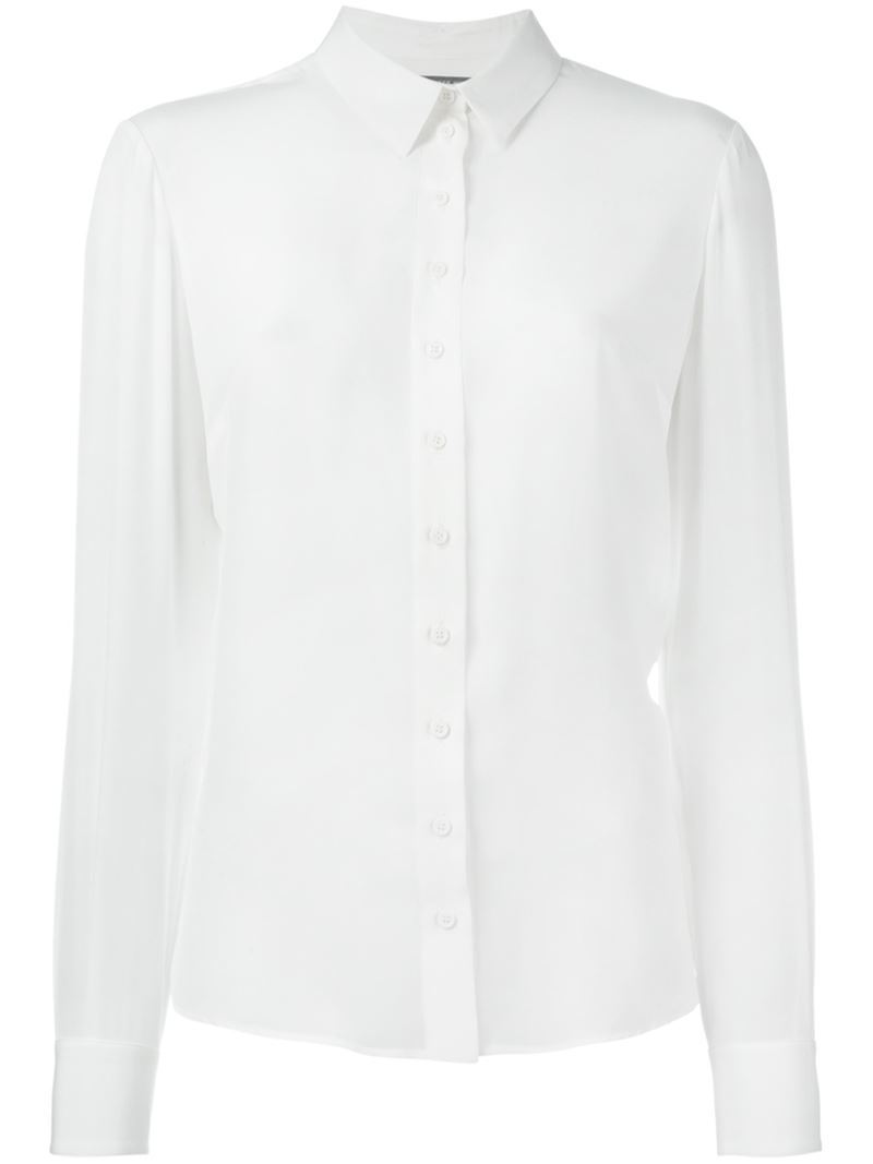 Pointed Collar Shirt, Women's, Nude/Neutrals - neckline: shirt collar/peter pan/zip with opening; pattern: plain; style: shirt; predominant colour: white; occasions: casual, work, creative work; length: standard; fibres: cotton - 100%; fit: body skimming; sleeve length: long sleeve; sleeve style: standard; texture group: cotton feel fabrics; pattern type: fabric; season: a/w 2015; wardrobe: basic