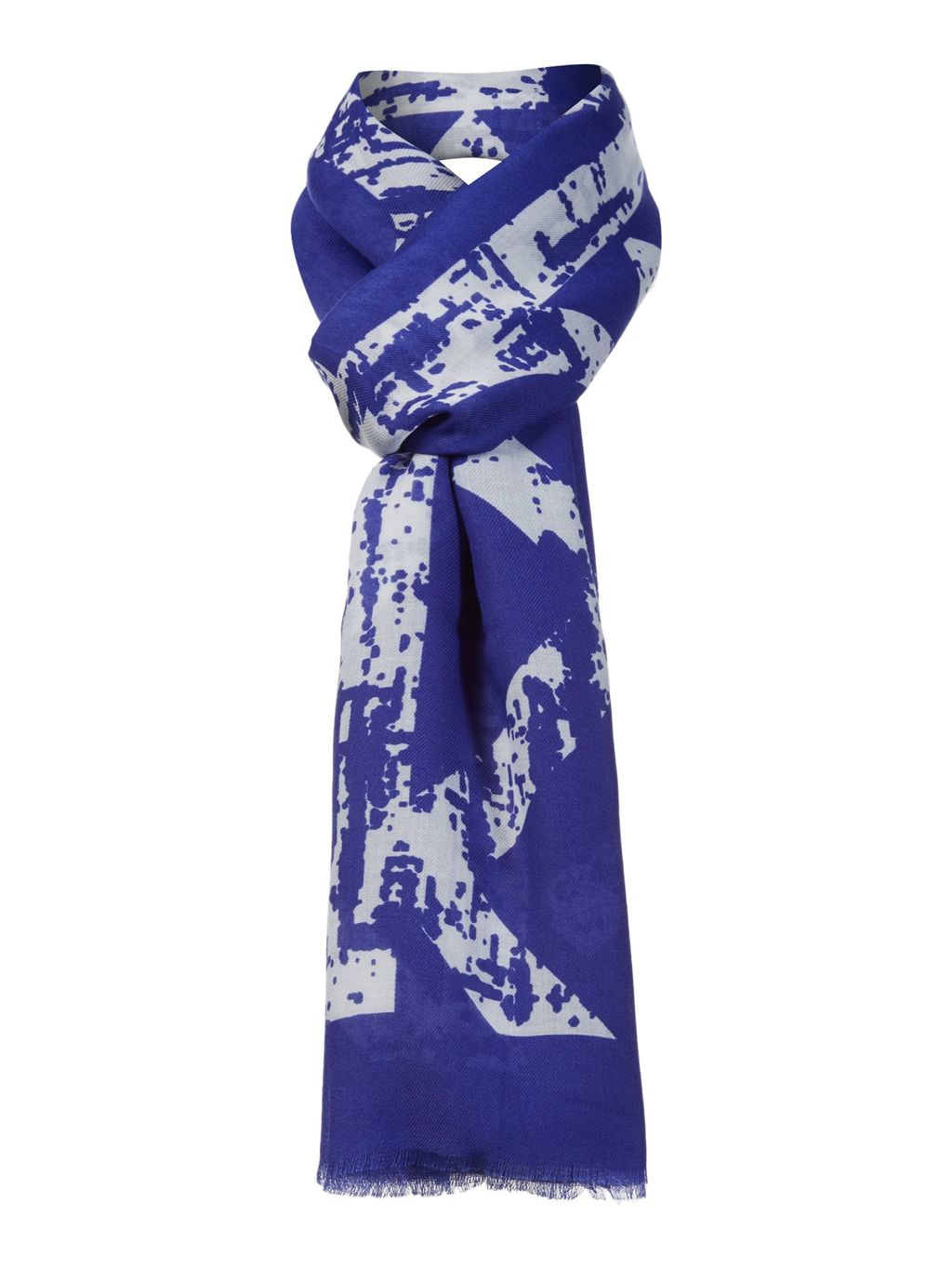 Neon Scarf, Cobalt - predominant colour: purple; occasions: casual, creative work; type of pattern: heavy; style: regular; size: standard; material: fabric; pattern: patterned/print; season: a/w 2015; wardrobe: highlight