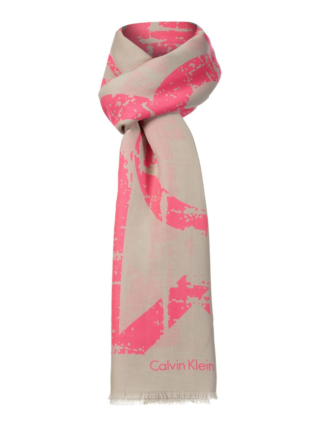 Neon Scarf, Neutral - predominant colour: pink; secondary colour: stone; occasions: casual; type of pattern: standard; style: regular; size: standard; material: fabric; pattern: patterned/print; season: a/w 2015; wardrobe: highlight
