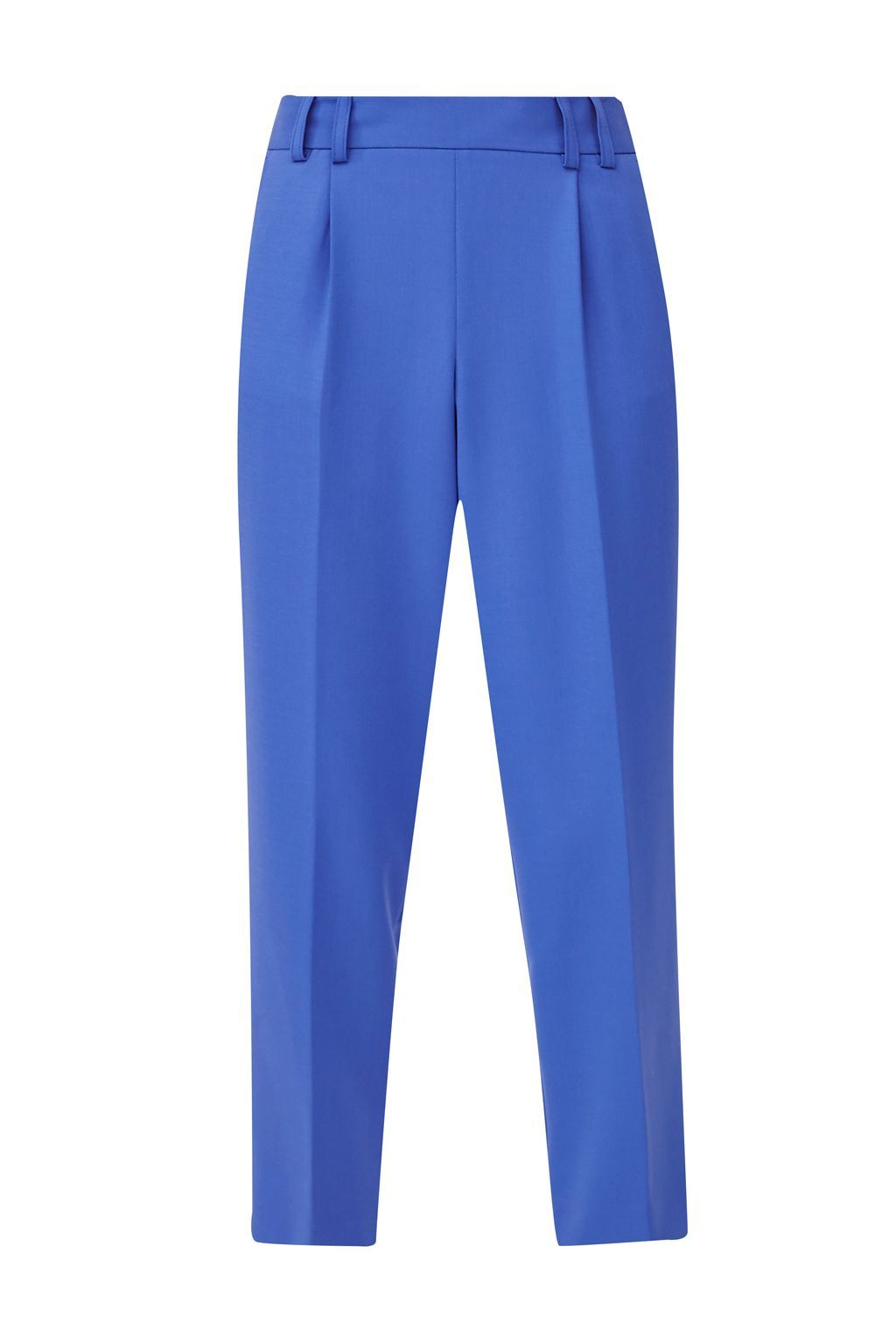 Whisper Light Cropped Peg Trousers, Blue - pattern: plain; style: peg leg; waist: high rise; predominant colour: diva blue; length: ankle length; fibres: polyester/polyamide - mix; occasions: occasion, creative work; fit: tapered; pattern type: fabric; texture group: other - light to midweight; season: a/w 2015