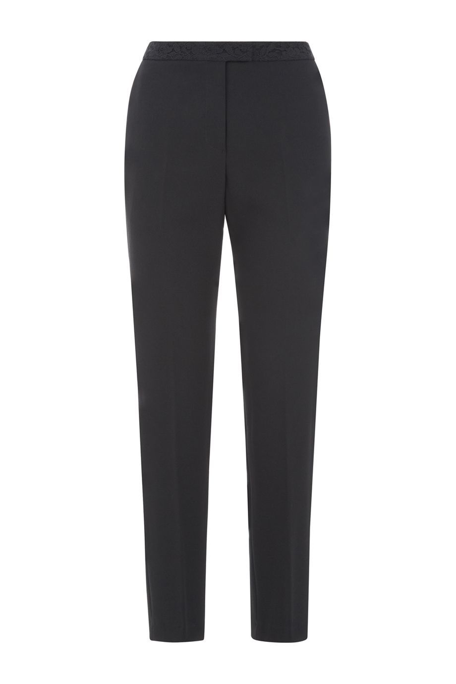 Marti Trouser, Black - length: standard; pattern: plain; waist: high rise; predominant colour: black; occasions: work; fibres: polyester/polyamide - 100%; waist detail: narrow waistband; texture group: crepes; fit: straight leg; pattern type: fabric; style: standard; season: a/w 2015; wardrobe: basic