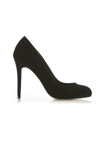 Womens Gina Round Toe Court Shoes, Black - predominant colour: black; occasions: casual, creative work; heel: stiletto; toe: round toe; style: courts; finish: plain; pattern: plain; heel height: very high; material: faux suede; season: a/w 2015; wardrobe: highlight