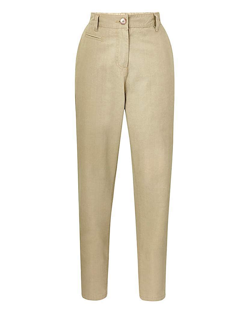 Ankle Grazer Chino Trousers Regular - length: standard; pattern: plain; waist: high rise; predominant colour: stone; occasions: casual; style: chino; fibres: cotton - 100%; waist detail: narrow waistband; texture group: cotton feel fabrics; fit: tapered; pattern type: fabric; season: a/w 2015