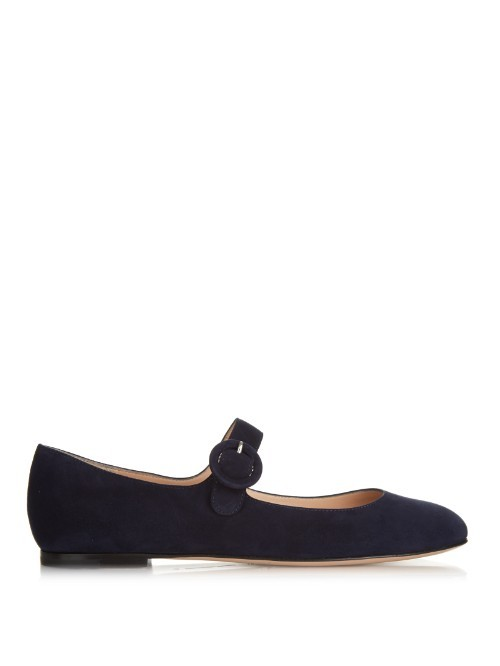 Lorraine Suede Flats - predominant colour: black; occasions: casual, creative work; material: suede; heel height: flat; toe: round toe; style: ballerinas / pumps; finish: plain; pattern: plain; season: a/w 2015; wardrobe: basic