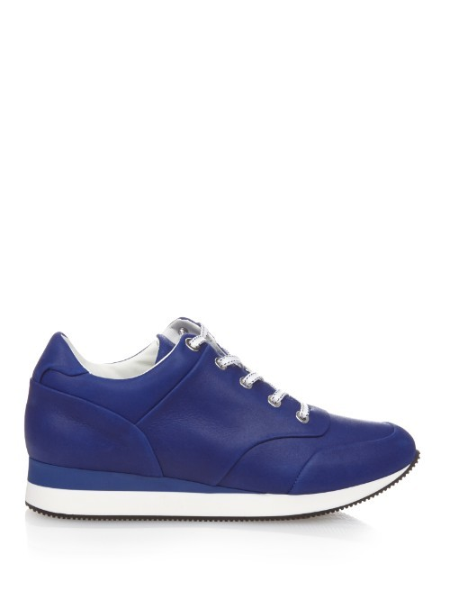 Lotto Trainers - predominant colour: royal blue; occasions: casual, creative work; material: leather; heel height: flat; toe: round toe; style: trainers; finish: plain; pattern: plain; shoe detail: moulded soul; season: a/w 2015